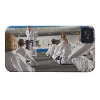 People in a tae kwon do class iPhone 4 cases
