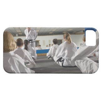 People in a tae kwon do class iPhone 5 covers