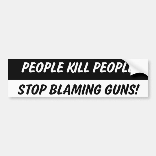 People Kill People 2nd Amendment Bumper Sticker