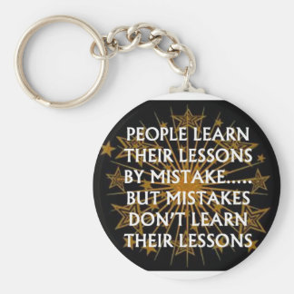 People Learn from mistakes Basic Round Button Key Ring