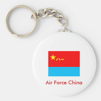 People Liberation Army Ai r Focre, Air Force China Basic Round Button Key Ring