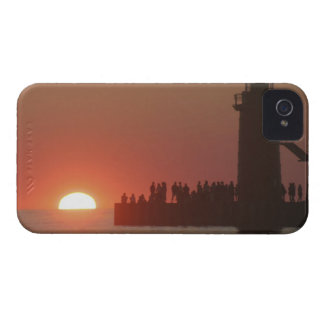 People lighthouse sunset silhouette at South Case-Mate iPhone 4 Case