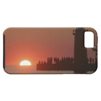 People lighthouse sunset silhouette at South iPhone 5 Cases