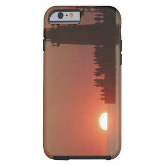 People lighthouse sunset silhouette at South Tough iPhone 6 Case