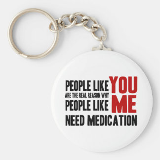 People Like YOU Basic Round Button Key Ring