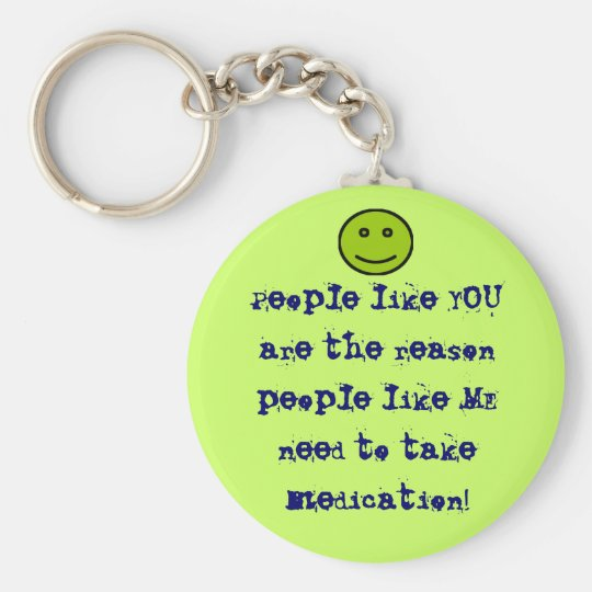 People like you key chain with smiley face