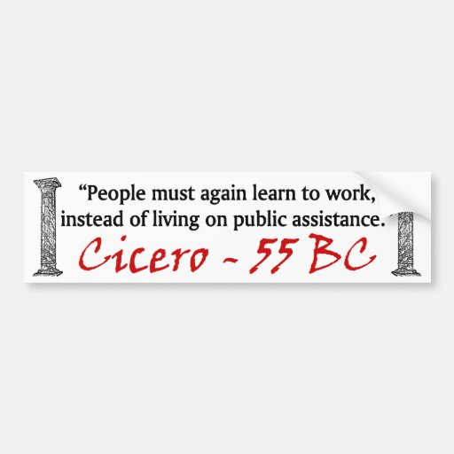 People Must Work - Cicero Bumper Stickers