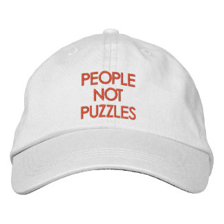 People Not Puzzles Embroidered Hats