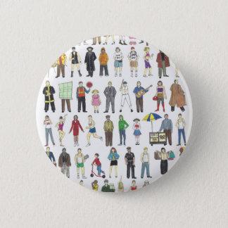People of NYC New York City Neighborhoods Citizens 6 Cm Round Badge