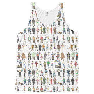 People of NYC New York City Watercolor Print Tank