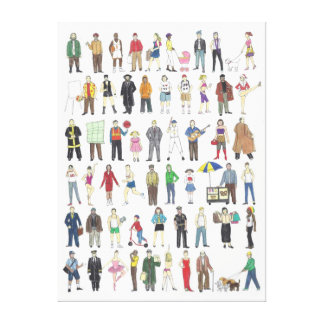 People of NYC Wrapped Canvas Print