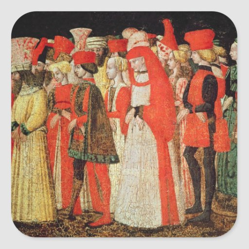 People of the Court of the Sforza Family Square Sticker