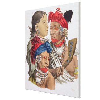 People of the Osagi Nation, from 'Le Costume Ancie Canvas Print