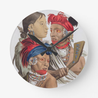 People of the Osagi Nation, from 'Le Costume Ancie Round Clock