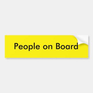 People on Board Bumper Sticker