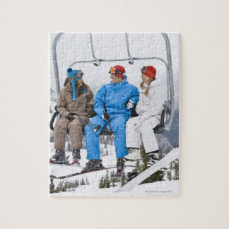 People on Ski Lift, Whistler-Blackcomb, British Jigsaw Puzzle