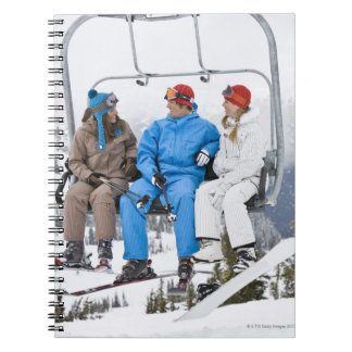 People on Ski Lift, Whistler-Blackcomb, British Notebook
