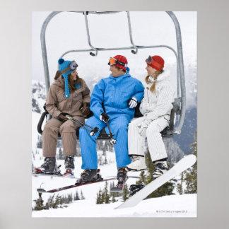 People on Ski Lift, Whistler-Blackcomb, British Poster