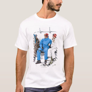 People on Ski Lift, Whistler-Blackcomb, British T-Shirt