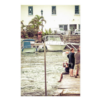 People on the pier 1 personalized stationery