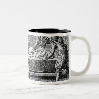 People Playing Backgammon Two-Tone Coffee Mug