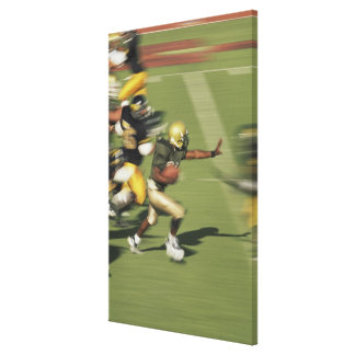 People playing football canvas print