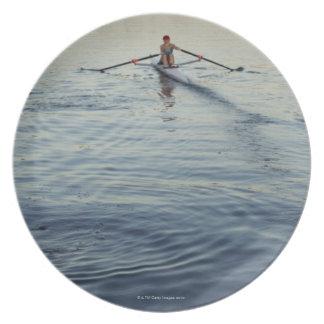 People Rowing Dinner Plates