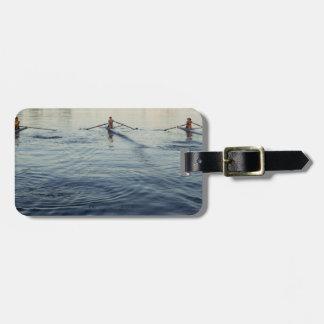 People Rowing Luggage Tag