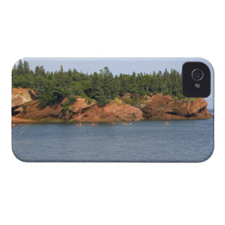 People sea kayaking in the Bay of Fundy at St. iPhone 4 Case