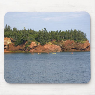 People sea kayaking in the Bay of Fundy at St. Mouse Mat