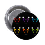 People together showing unity 6 cm round badge