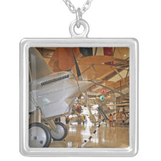 People touring National Museum of Naval Aviation Silver Plated Necklace