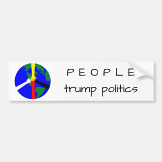 People Trump Politics - Bumper Sticker