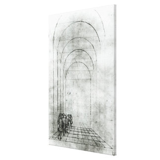 People under an Arch Canvas Print