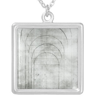 People under an Arch Silver Plated Necklace