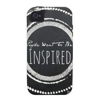"""""""People Want To Be Inspired"""" Quote Phone Case-B&W Case-Mate iPhone 4 Cases"""