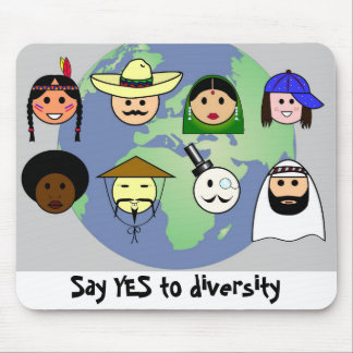 People worldwide anti racism pro diversity mouse mat