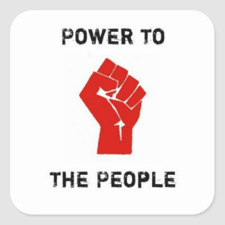 PeoplePower Square Sticker