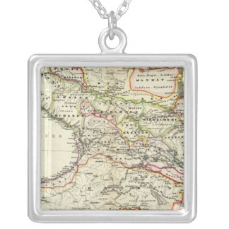 peoples of the Caucasus Silver Plated Necklace