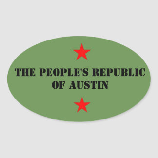 People's Republic of Austin Oval Sticker