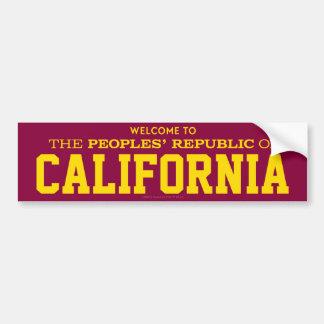 Peoples' Republic of California Stickers Bumper Sticker