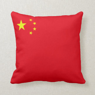 Peoples Republic of China Flag (corner) Throw Pillow