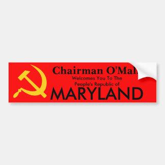 Peopls Republic Of Maryland Bumper Sticker