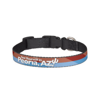 Peoria Flag Dog Collar, Small Pet Collar