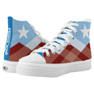 Peoria Flag High Tops Printed Shoes