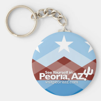 Peoria Flag Keychain, Circle Key Ring