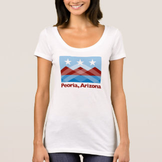 Peoria Flag Scoop Neck Women's Shirt