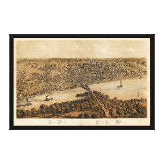 Peoria Illinois (1867) Canvas Print