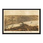 Peoria Illinois (1867) Canvas Prints