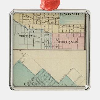 Peoria, Oneida, Knoxville and Dallas Silver-Colored Square Decoration